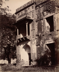 Sikandra. Kanch Mahal. North-west angle of building from west